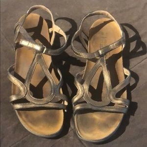 Bronze Naot sandals, size 40 (run small, like 9)
